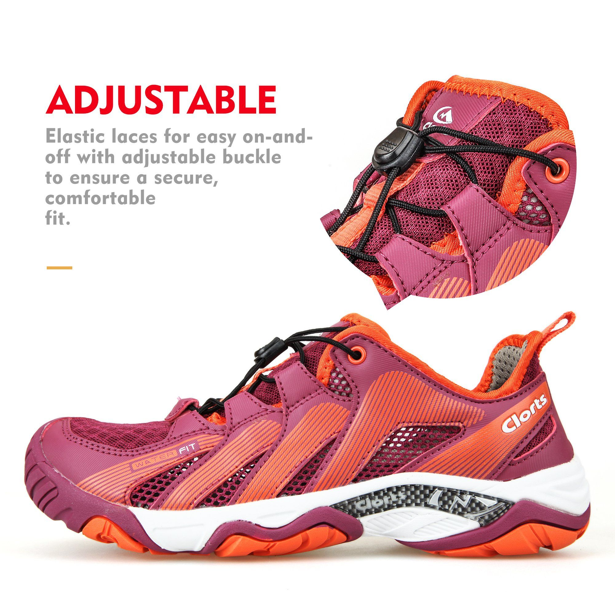 7201ddb25bc0 Clorts Womens Water Shoe Closed Toe Quick Drying Hiking Sandal Fuchsia  3H028B US9    Find out more about the great product at the image link.