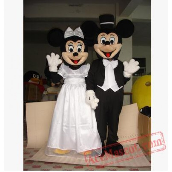 2020 Hot Adult Mickey and Minnie Mouse Mascot Costume Party Clothing Fancy Dress