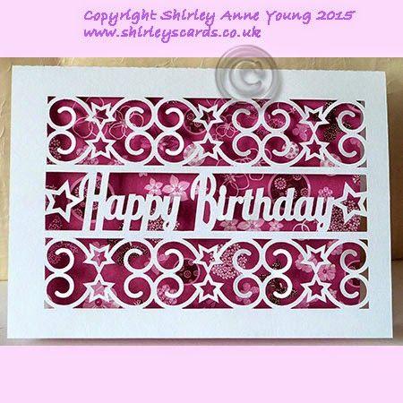 Freebie Happy Birthday With Stars Card Shirley S Cards Cricut Birthday Cards Cricut Birthday Birthday Card Template Free