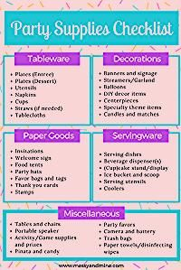Photo of Party Supplies Checklist – Messy & Mine