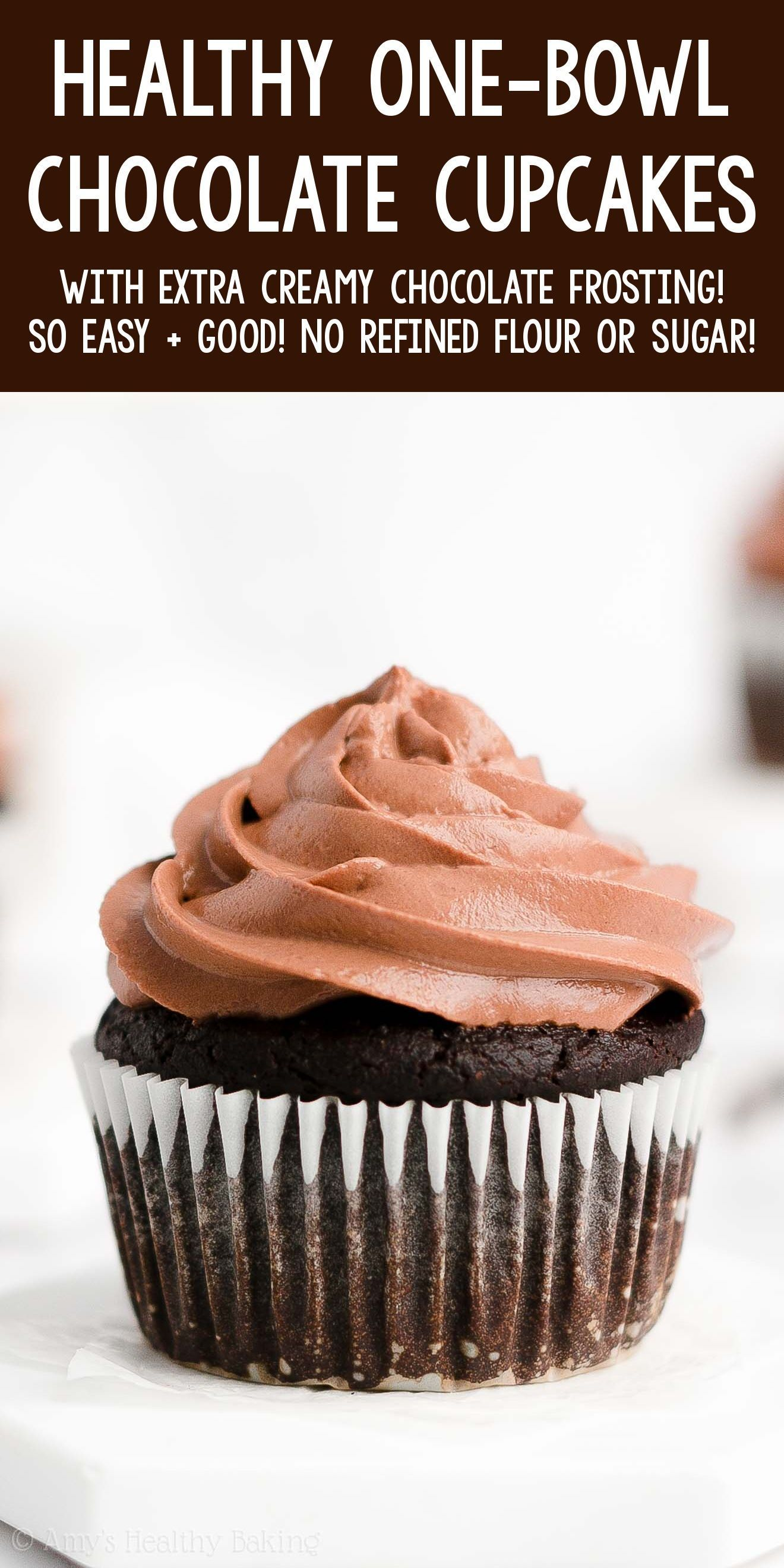 The Ultimate Healthy Chocolate Cupcakes Easy 1 Bowl Recipe In 2020 Healthy Chocolate Cupcakes Chocolate Cupcakes Easy Easy Chocolate Cupcake Recipe