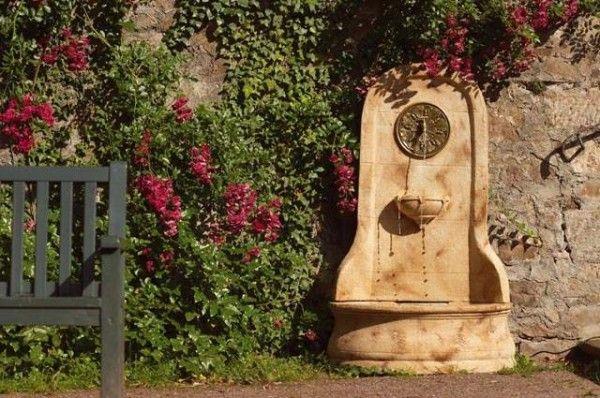Jardines peque os con fuente jardin fuentes de agua - Fuentes para terraza ...