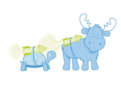 Mascot illustration for client website
