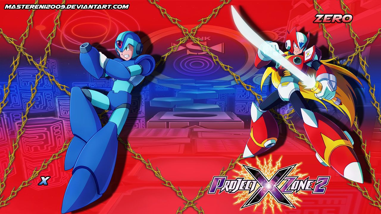 Project X Zone 2 Wallpaper Of Megaman X And Zero From The Megaman
