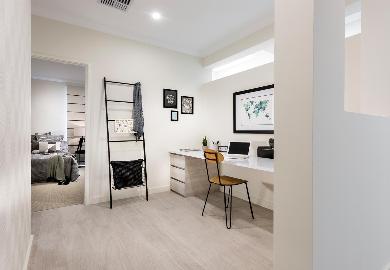 Interior design for homebuilders - Home Builders Australia Study Nook Display Home New Homes Interior Design
