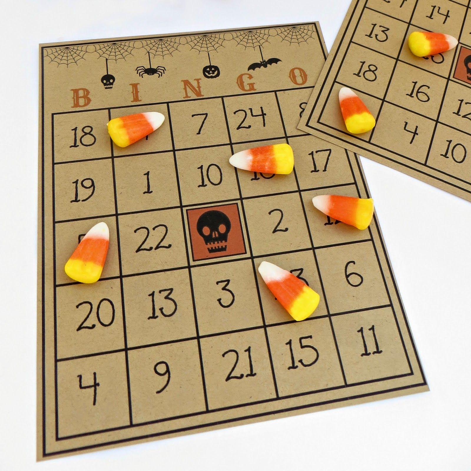 free printable halloween bingo game halloween fun pinterest