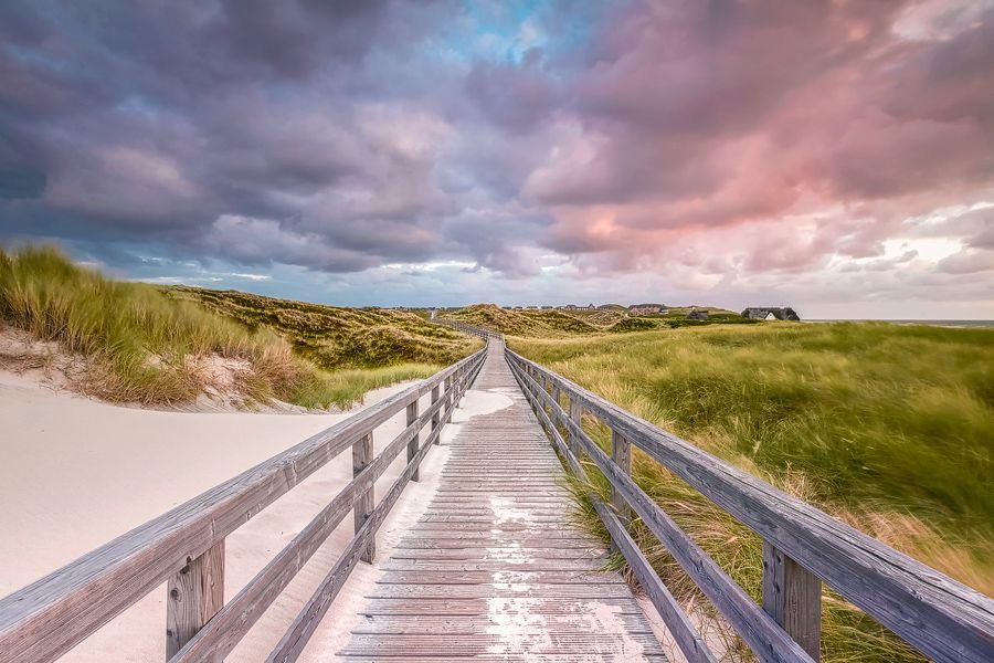 Leinwandbild Treppe zum Strand in Kampen Sylt Markus Lange
