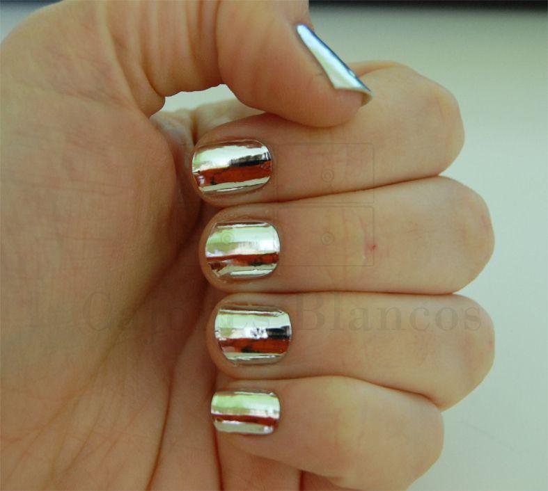 Cajones Blancos: Uñas efecto espejo | Uñas | Pinterest | Manicura de ...