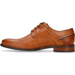 Zapatos con cordones de cuero color coñac (40.41.42.43.44.45.46.47) Manfield