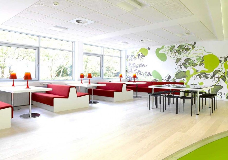 Corporate Office Design Ideas 17 classy office design ideas with a big statement Office Modern Office Interior Design Ideas Fancy White Green Corporate Office Canteen Interior Ideas