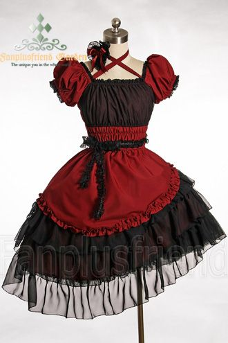 Pirate Lolita Bias Tiered Frill Trimmings Dress Dress*3color Instant Shipping $101