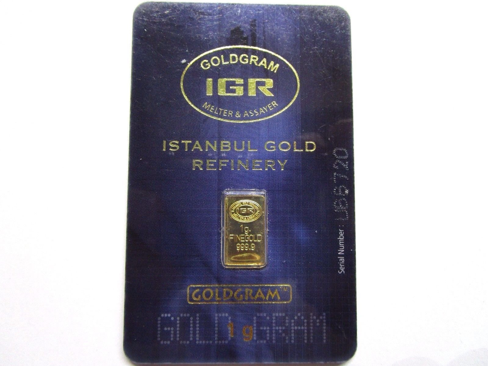 gram gold bar fine in assay istanbul gold refinery sealed