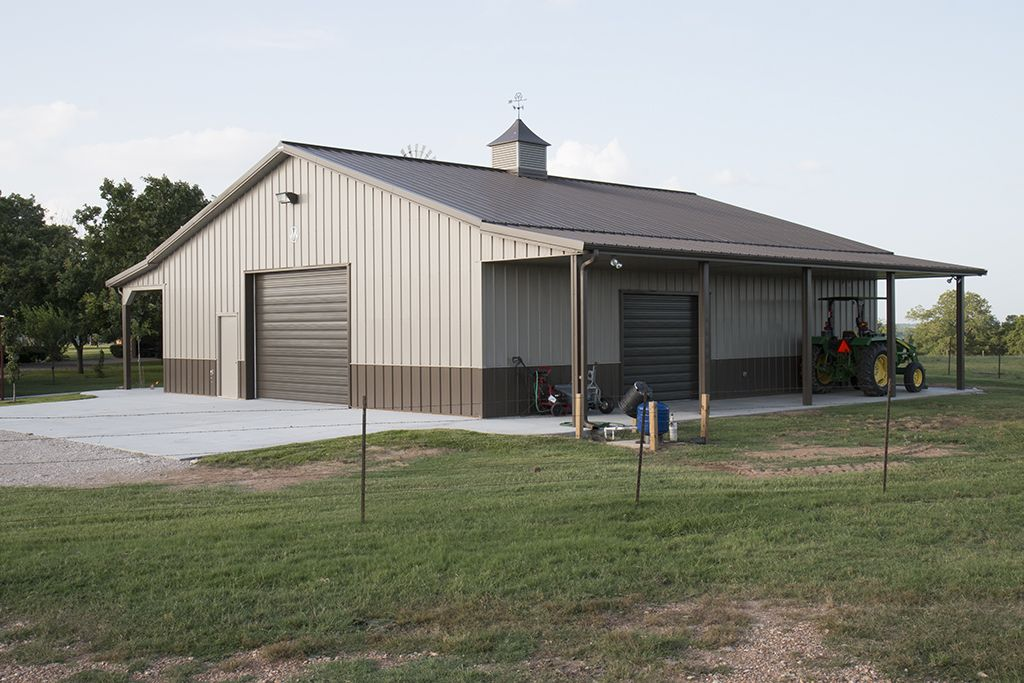 Morton buildings garage in texas hobby garages for Metal house prices
