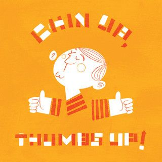 live now / chin up, thumbs up by lydiams, via Flickr