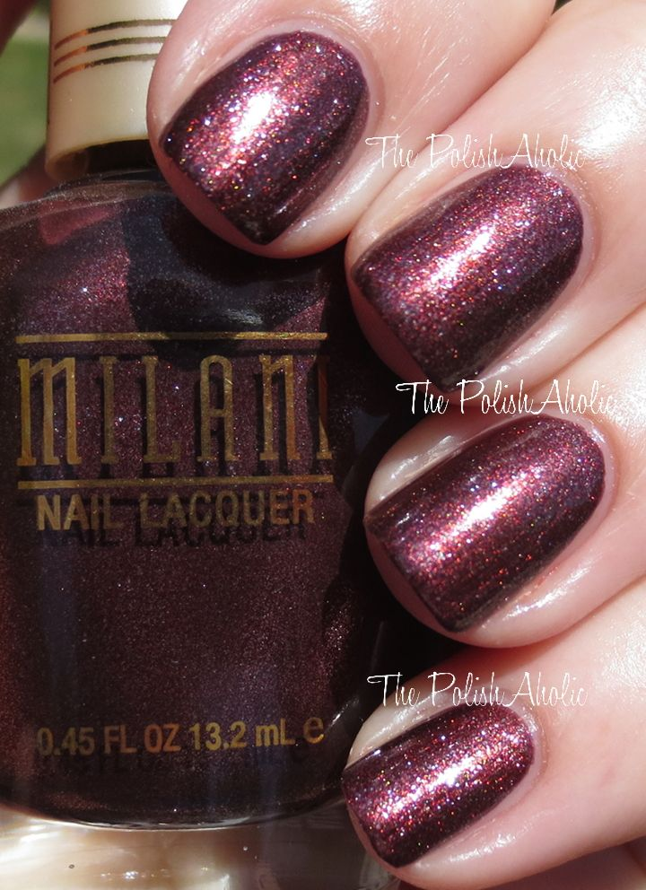 Milani Mulberry Sugar A Dark Reddish Brown Shimmer This One Is Also Bit