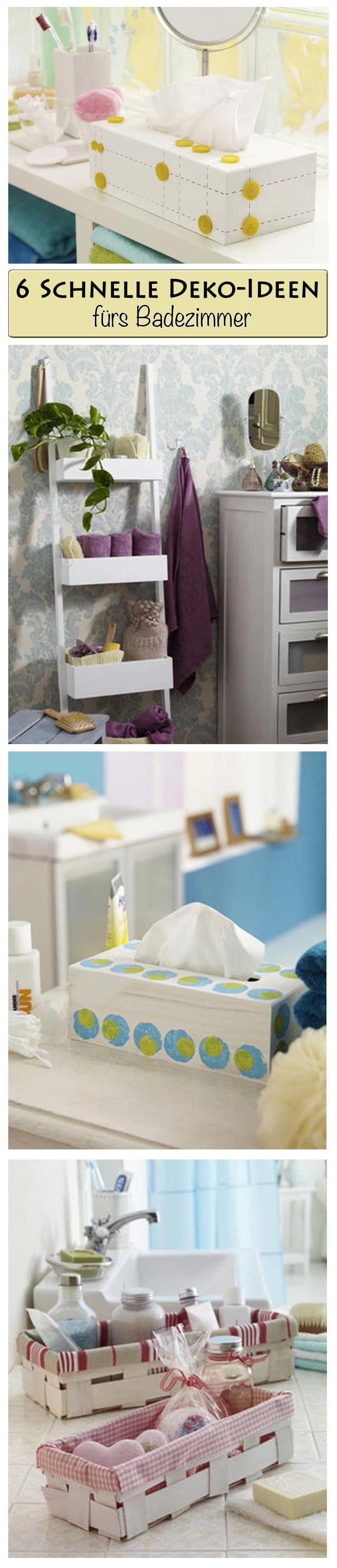 bad deko selber machen bastelideen diy pinterest bad deko und badezimmer. Black Bedroom Furniture Sets. Home Design Ideas