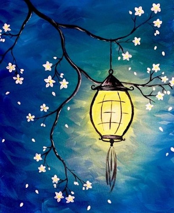 100 Artistic Acrylic Painting Ideas For Beginners Night Painting