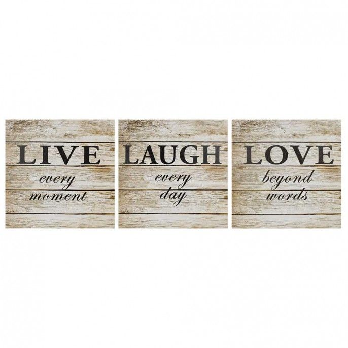 Large Live, Love, Laugh Canvas Print | Poundstretcher | For The Home ...