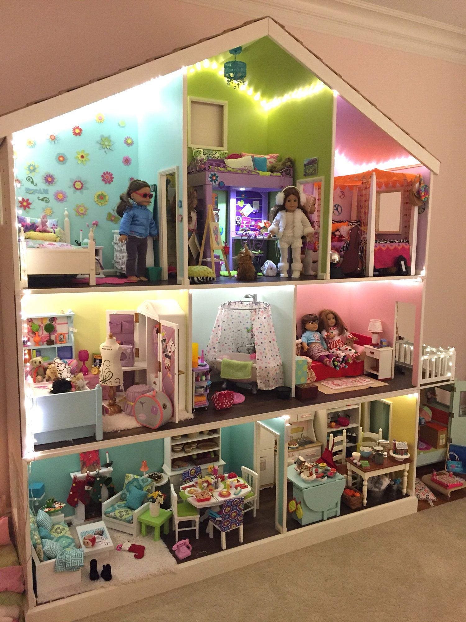 American Girl 3 Story Dollhouse American Girl Doll Room
