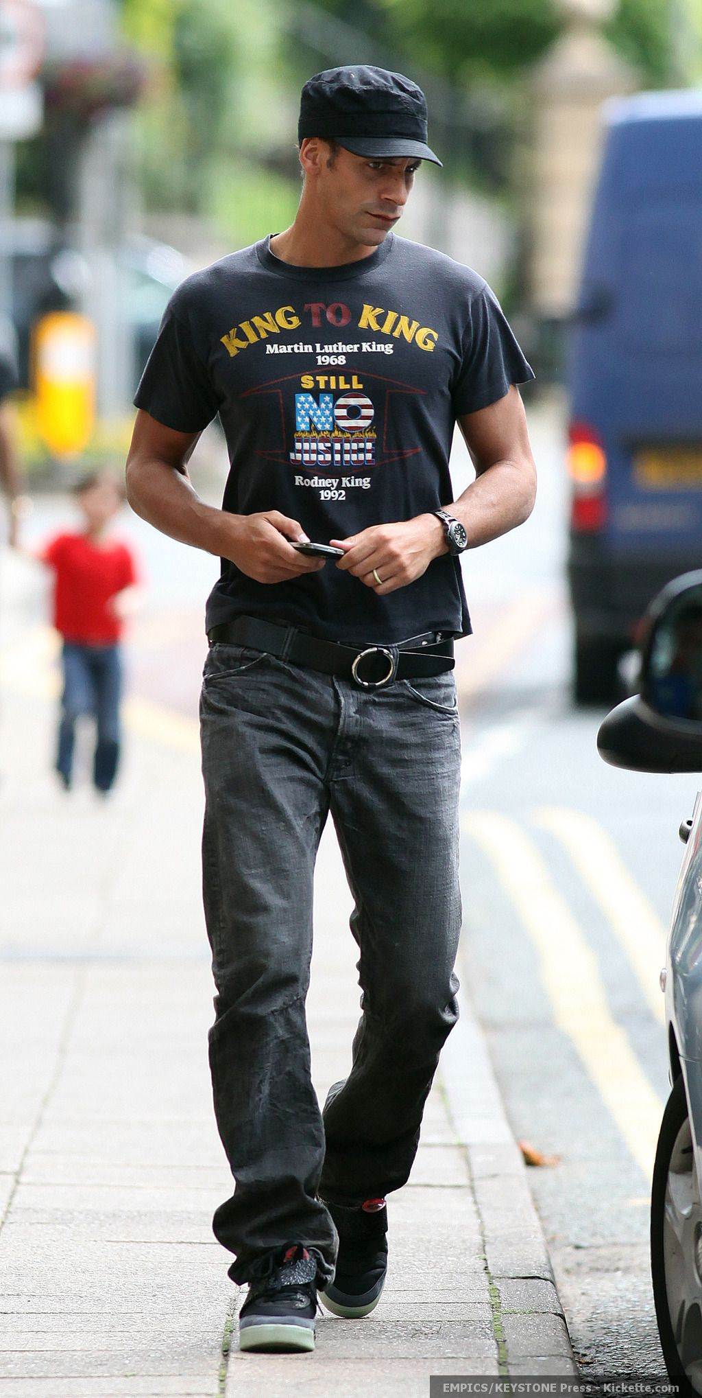 This is manchester united soccer player rio ferdinand he is