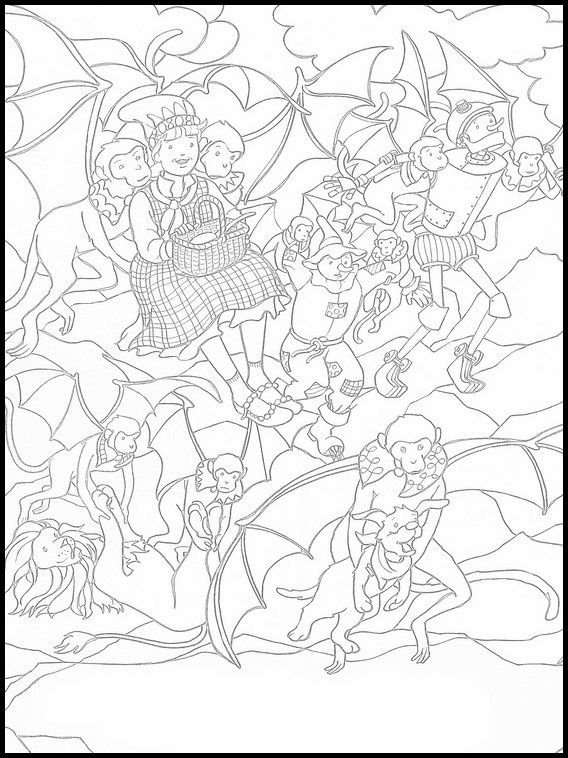 The Wizard Of Oz Coloring Book 10 Cool Coloring Pages Kids Printable Coloring Pages Pikachu Coloring Page