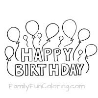 Coloring sheets that say Happy Birthday for the special ...