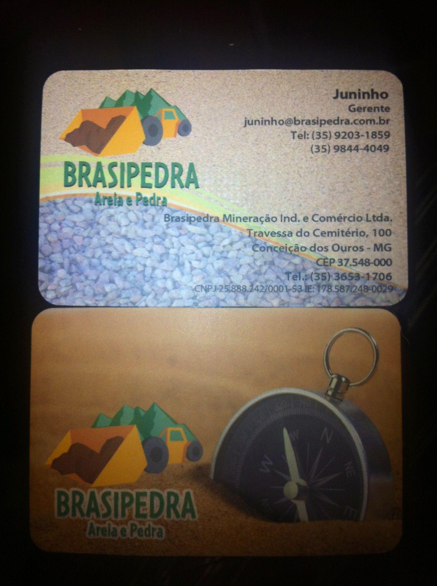 Brasipedra Mineração Ind. e Comércio Full colour both sides 350 GSM Rounded corners