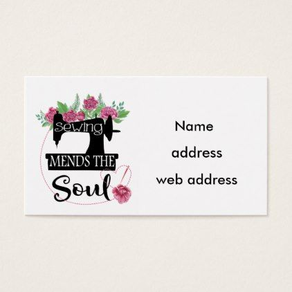 Sewing Mend The Soul Business Card Cyo Business Logo Pinterest