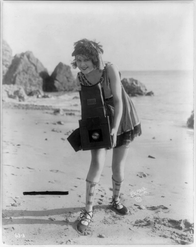 Are those sandals painted on?  1920s Photographer