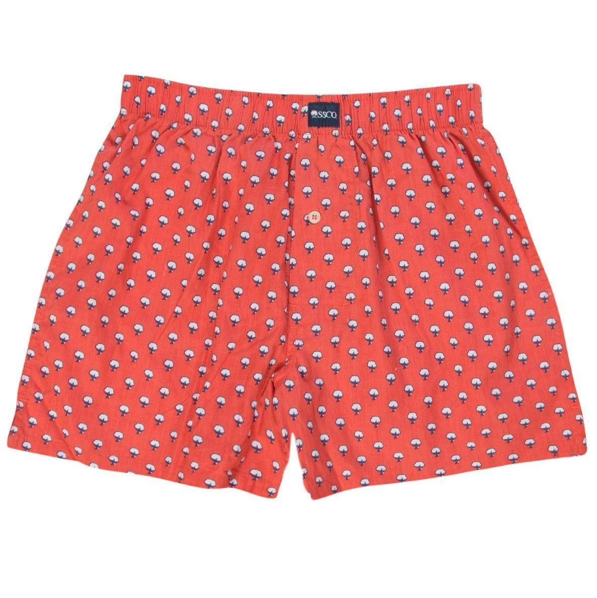ccb5e70be4 Cotton Club Boxers in Deep Sea Coral by The Southern Shirt Co ...