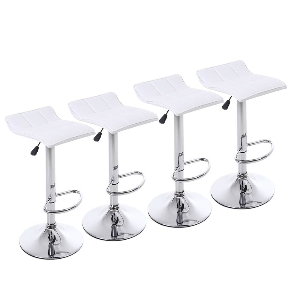 Details About Bar Stools Adjustable Leather Counter Height Swivel