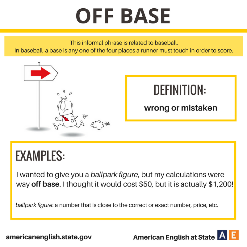 Expression: Off Base …