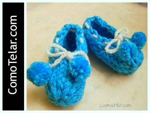 ▷ Zapatos de Bebé - Tejido en Telar Redondo / Circular - Loom Knit ...