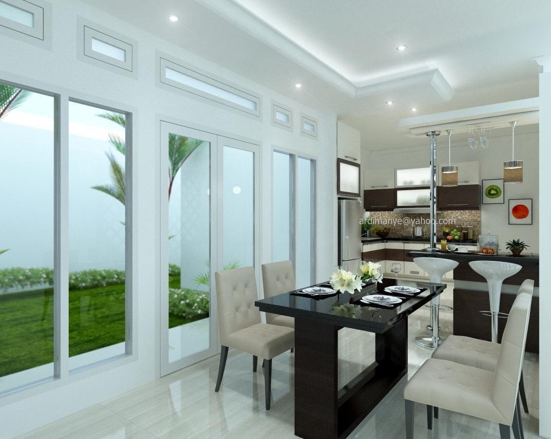 jasa render desain interior ruang makan kitchen set Makassar ...