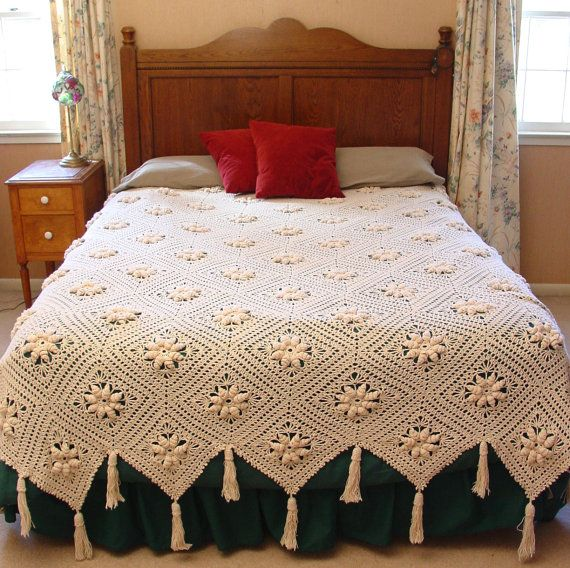 Curlicue Coverlet Crochet Pattern PDF | Ganchillo patrones ...