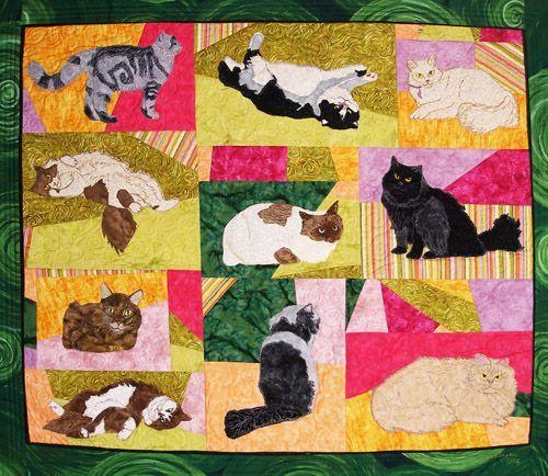 applique quilt patterns | ... of a raw edge applique quilt made ... : applique cat quilt patterns - Adamdwight.com