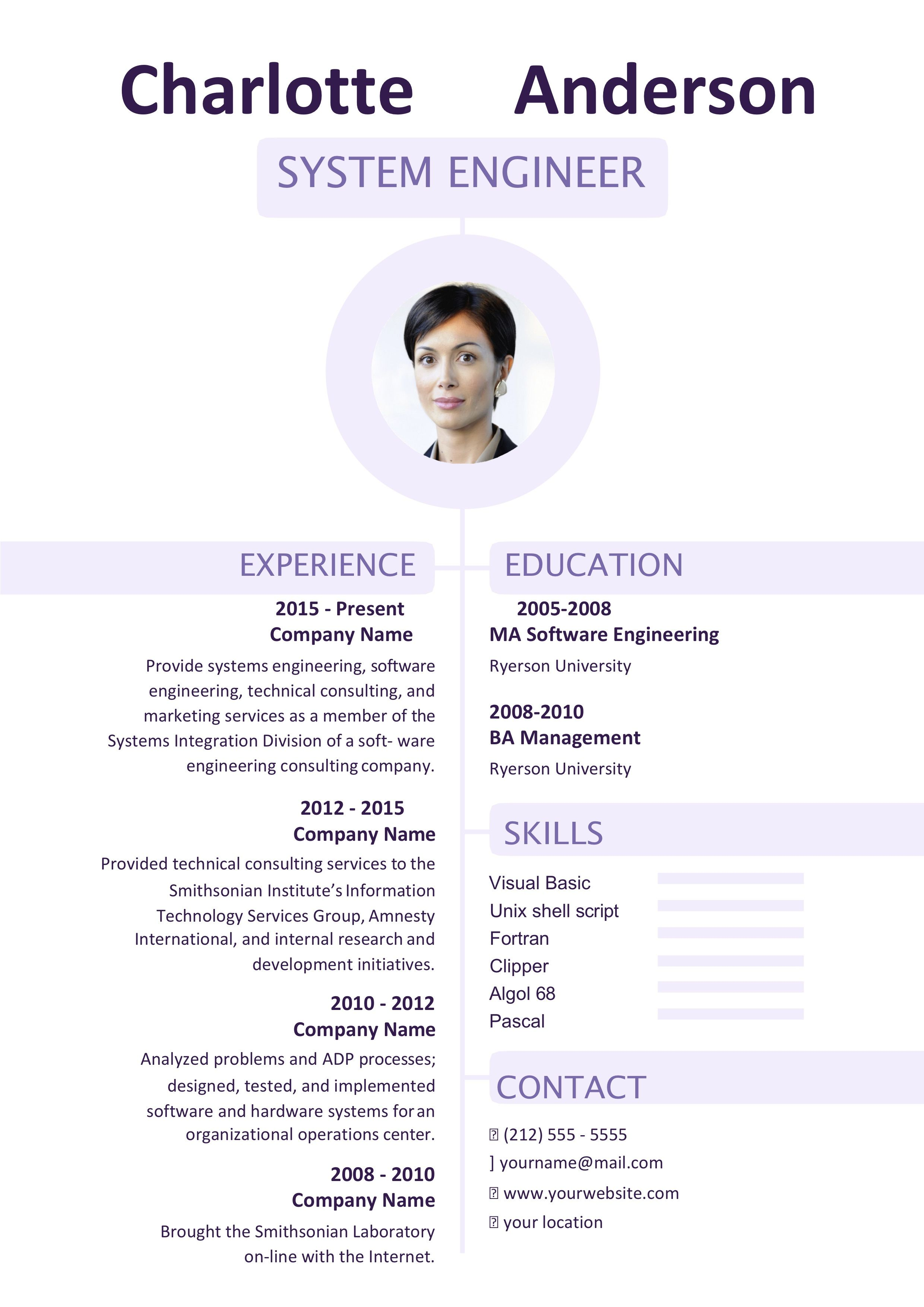 Free ms word resume templates resume templates words
