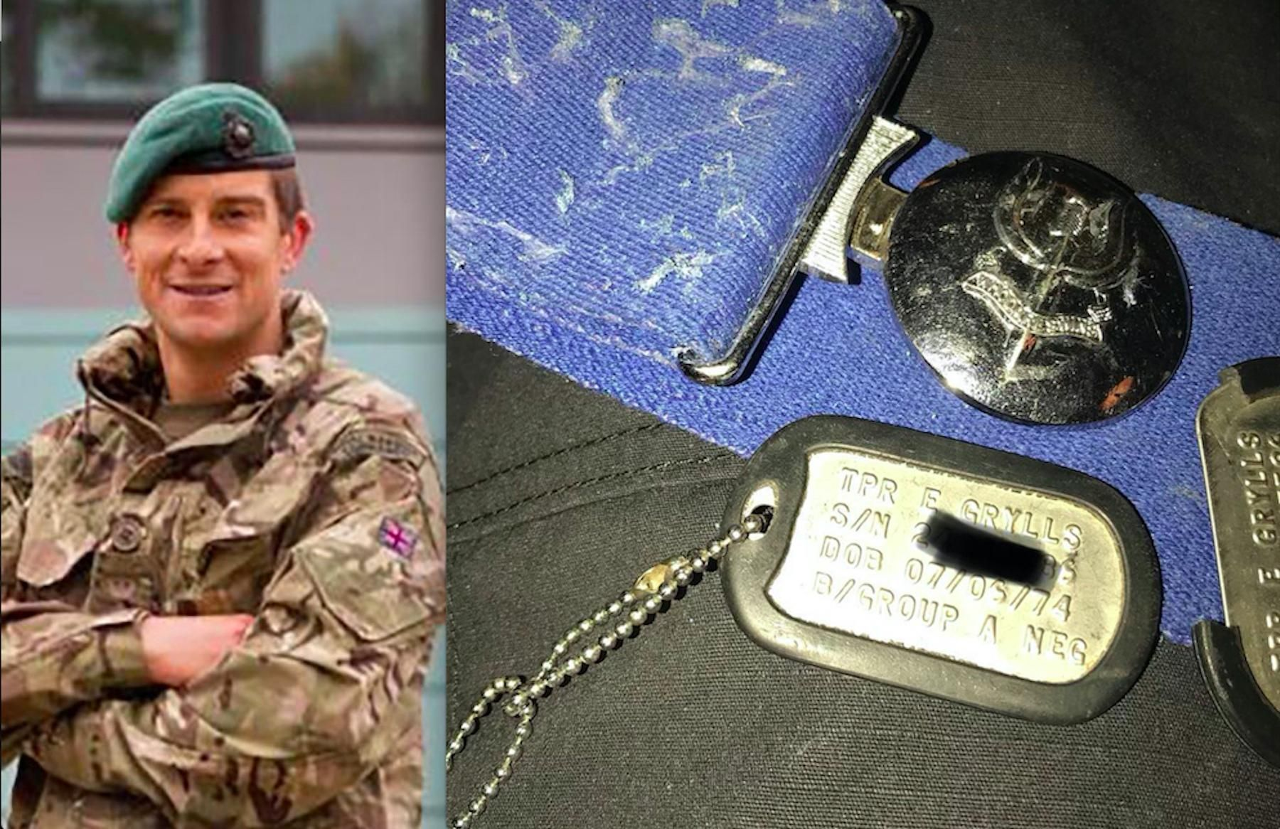 Trooper Bear Grylls Dog Tags And Regimental Stable Belt While