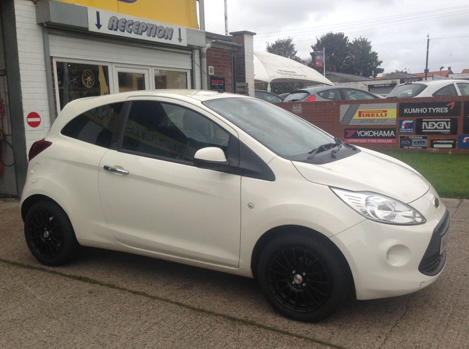 Ford Ka Fitted With Calibre Rapid Matt Black Buy Tires Wheels