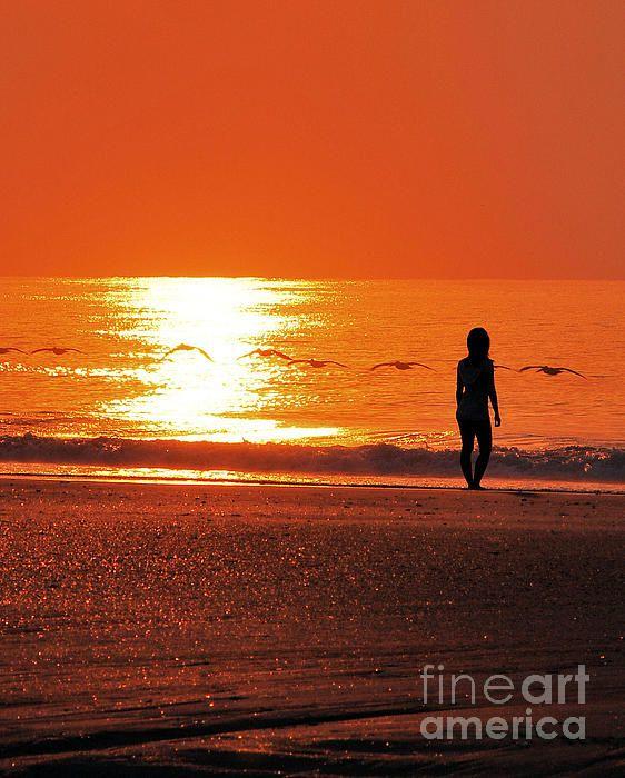 Orange Sky At Sunrise By Bob Sample Orange Sky Sunrise Black And White