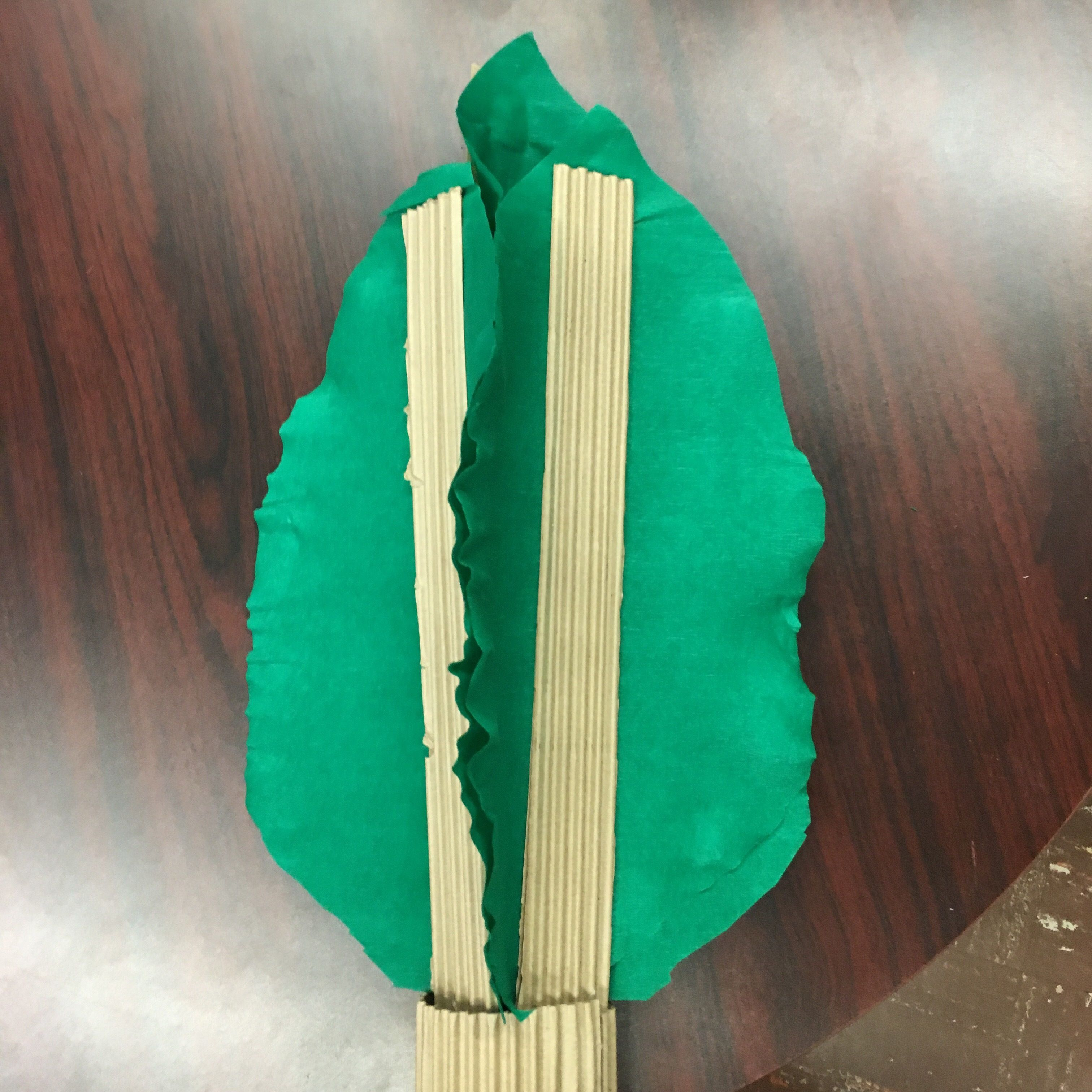 Easy DIY Cardboard and Tissue Paper Palm Tree Celebrate