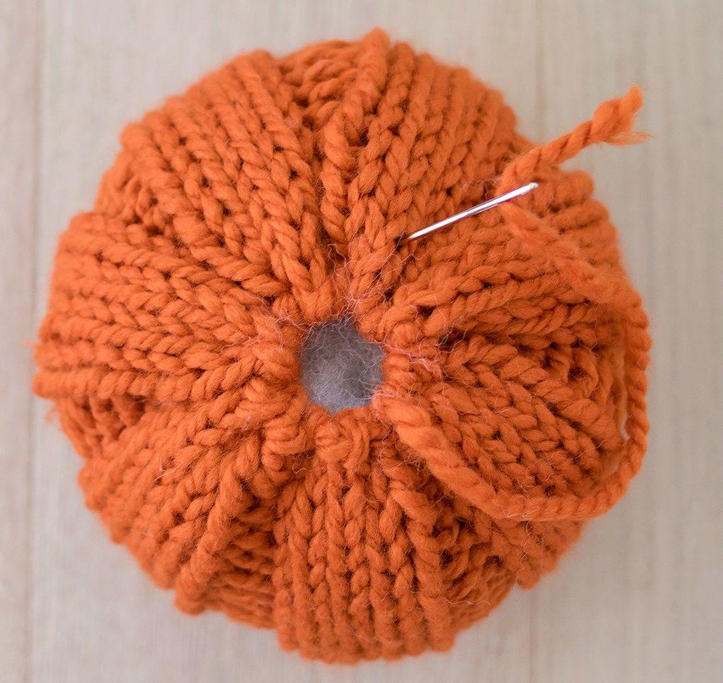 Easiest Large Pumpkin Knitting Pattern | Knitting ...
