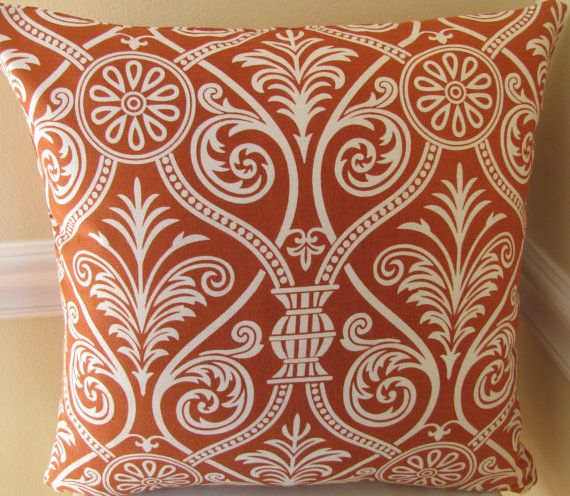 pillow - rust orange- to go with the teal, grey, and mustard?
