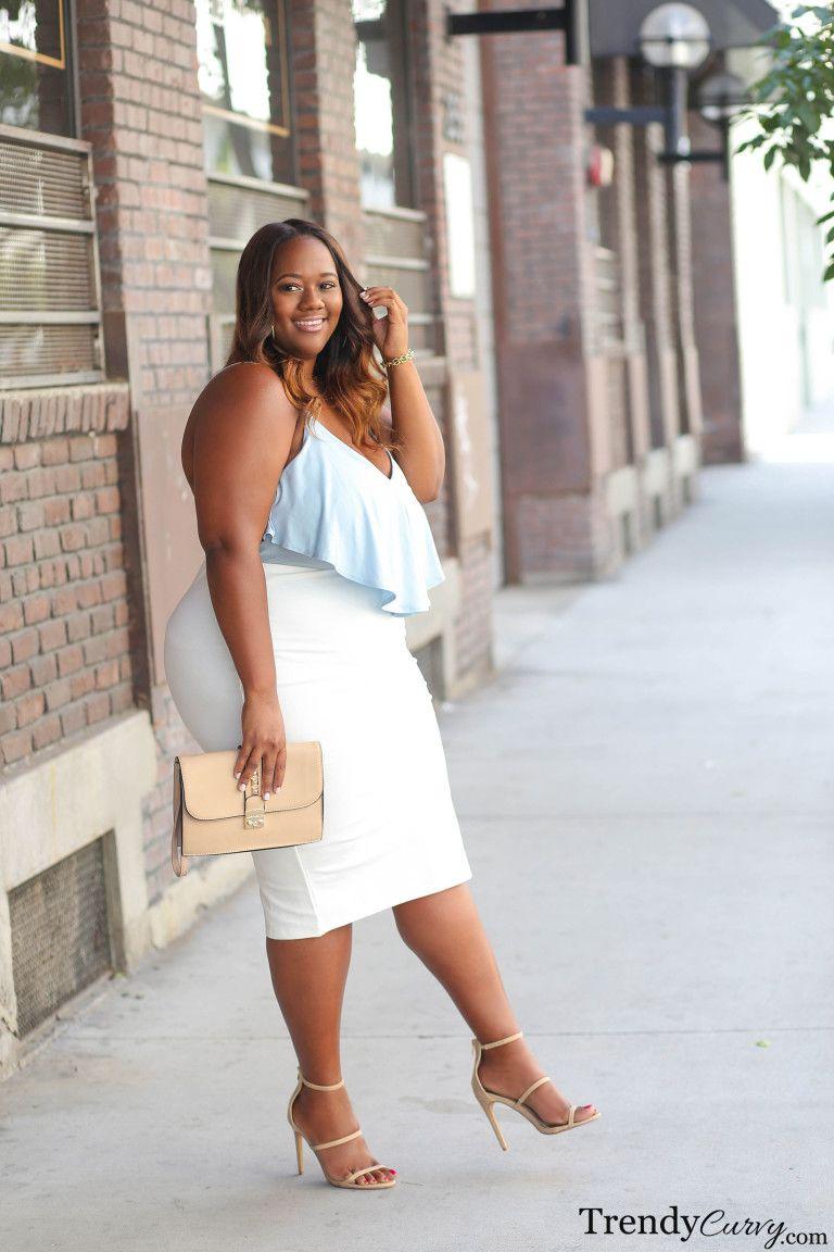 Summer Chic Trendy Curvy Plus Size Ivory Dresses Skirt Fashion Summer Chic [ 1152 x 768 Pixel ]