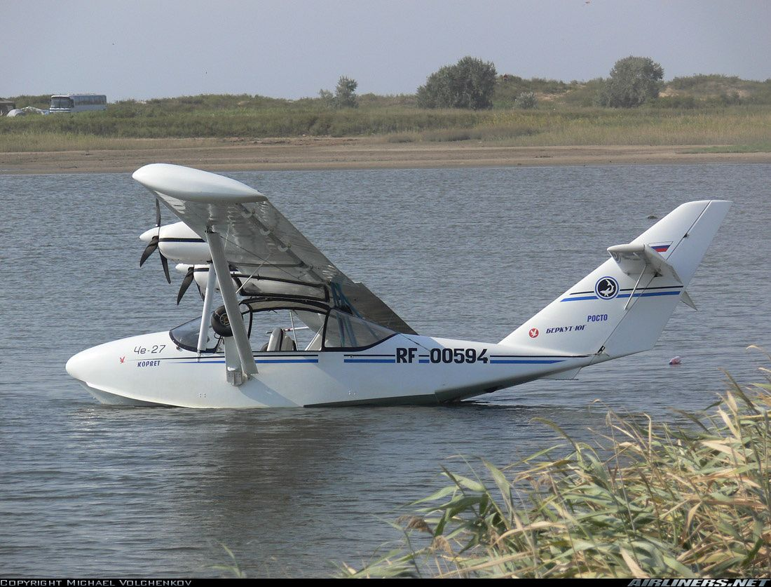 Gidroplan che 22 corvette three seat twin engine amphibious light sport aircraft