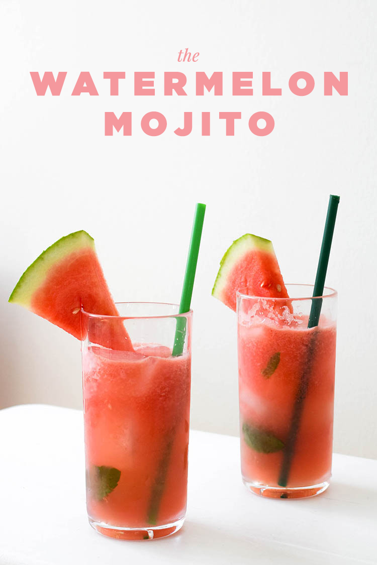 Really Easy Cocktail Recipes - The Watermelon Mojitos | Summer ...