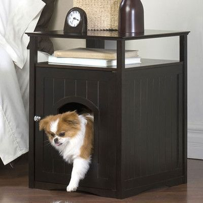 Merry Products Nightstand Pet Crate End Table Reviews Wayfair