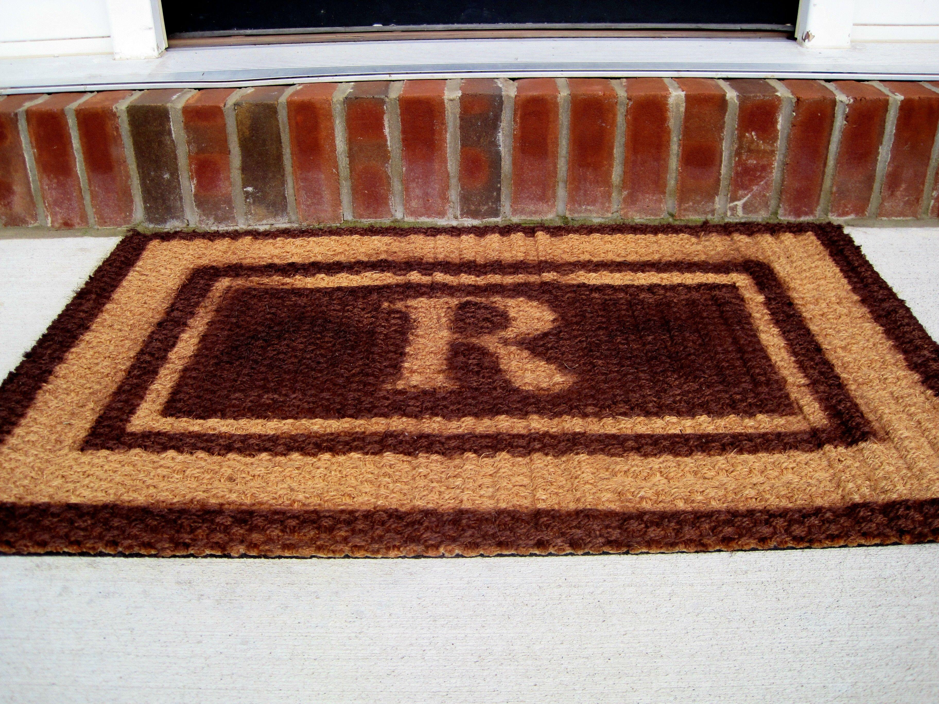 Personalized doormat pb knock off