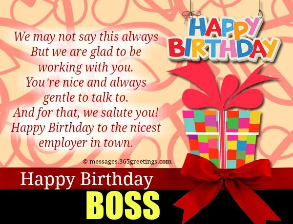 Birthday Wishes For Boss | Boss, Birthday messages and ...