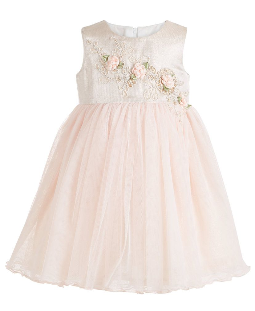 Bonnie Baby Baby Girls Flower & Tulle Party Dress & Reviews - All Girls' Dresses - Kids - Macy's